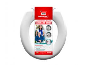 Assento Sanitário Oval para Cadeira de Banho -Fechado - Mebuki