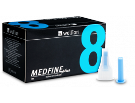Agulhas para Caneta de Insulina Medfine Plus 8mm - Wellion
