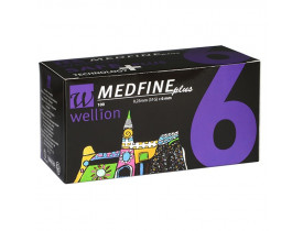 Agulhas para caneta de insulina Medfine Plus 6 mm - Wellion