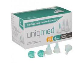 Agulhas para Caneta de Insulina 4mm UNIQMED - Cx c/100un