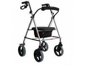 Andador Ortopédico 4 Rodas Mercur com Assento e Cesta