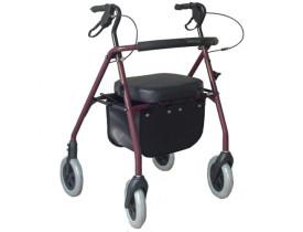 Andador 4 Rodas com Assento e Porta Objetos - Dobrável - Comfort SL-512