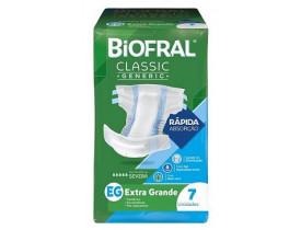 Fralda Geriátrica Biofral Classic Generic EG 7 Unidades