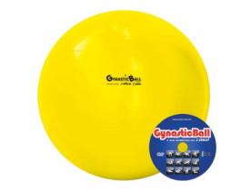 Bola para Exercícios Gynastic Ball 45cm Amarela - Para Ginástica Pilates Yoga - Com Dvd