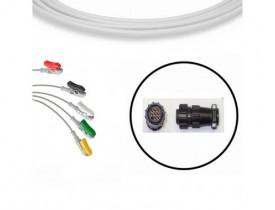 Cabo de ECG Instramed Miniscope / HS02 - 5 Vias - Compatível