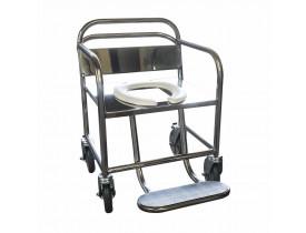 Cadeira de Banho Obeso - Assento e Encosto em Chapa Inox