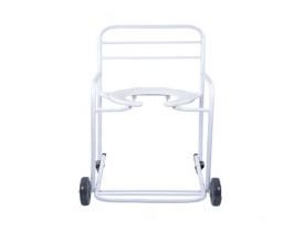 Cadeira de Banho Obeso Com Rodízios Giratórios Cap.150kg