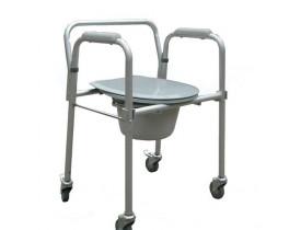 Cadeira de Banho em Aço - Dobrável com Coletor e Tampa - Comfort