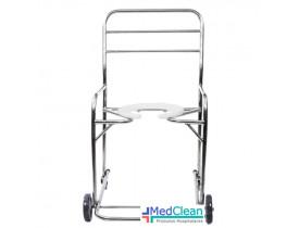Cadeira de Banho Adulto Hospitalar em Aço Inox