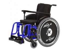 Cadeira de Rodas Alumínio  Dobrável - Ágile- Até 120kg