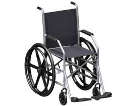 Cadeira de Rodas Dobrável 1009 Rodas Injetadas Nylon - Pneu Maciço
