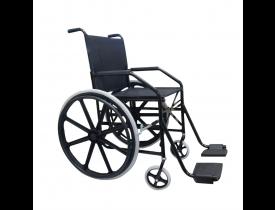 Cadeira de Rodas 1011 - Preta - Assento 45cm - Jaguaribe