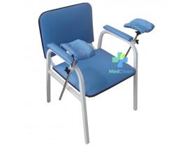 Cadeira de Coleta para Laboratório com Braçadeiras Cap. 150Kg
