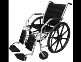 Cadeira de Rodas 134 - Ortometal -Aro 24 Pernas Eleváveis e Pneus Infláveis  42cm 100 Kg