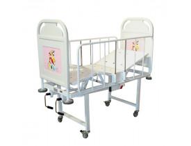 Cama Fawler Infantil Pediátrica - 2 Manivelas Cabeceira e Peseira Poliuretano Removível