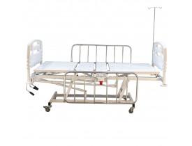 Cama para UTI Hospitalar Semi Luxo Fawler, Trendelemburg e Proclive com Cabeceira e Peseira Injetada Cap. 180kg
