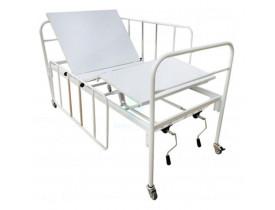 Cama Hospitalar Fowler 2 Manivelas com Grades e Rodízios