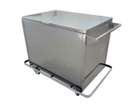 Carro para Transporte de Roupa Suja em Aço Inox