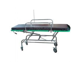 Carro Maca Hospitalar Inox com Regulagem de Altura - Elevação do Leito