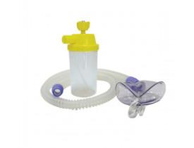 Conjunto para Nebulização Contínua AR 1200mm - Silicone- com Máscara Adulto- Protec