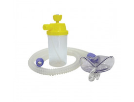 Conjunto para Nebulização Contínua  AR 1200mm - Silicone- com Máscara Infantil - Protec