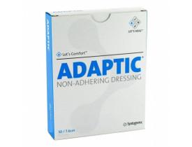 Curativo Adaptic 7,5x7,5cm Systagenix Malha Não Aderente Para Queimaduras e Feridas