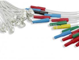 Eletrodo EEG Prata Pino Fêmea Colorido 1,50m - Jg 25 Unidades