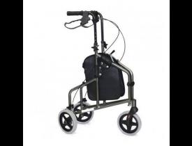 Andador Dobravel em Alumínio 3 Rodas - Com Freio Inspire - Mobil