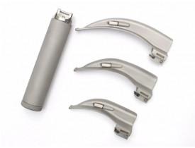 Kit Laringoscópio Aço Inox Convencional com 3 Laminas Curvas Macintosh - Missouri
