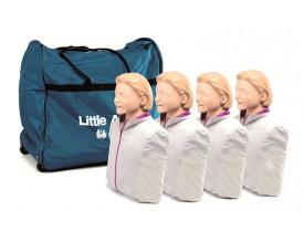 Manequim para RCP Little Anne Laerdal Pack com 4 Unidades