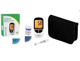 Kit Medidor de Glicose G-500 - Completo com 25 Tiras - Bioland