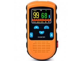 Oxímetro De Pulso Palm PC66B LCD Com Bateria Recarregável, Sensor Adulto e Neonatal Mobil (