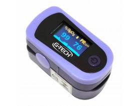 Oxímetro de Dedo SpO2 Saturação, Frequência Cardíaca e Curva Plestimográfica OLED G-Tech