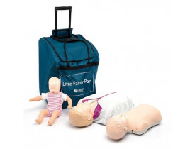 Pacote Little Family QCPR Manequim para RCP Laerdal Little Anne QCPR + Little Junior QCPR + Baby Anne RCP