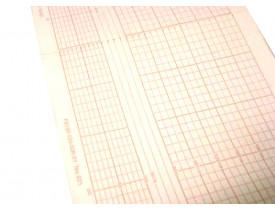Papel para Cardiotocógrafo Shenzen Unicare MCF21 - Bloco com 200fls - Caixa com 10 Blocos