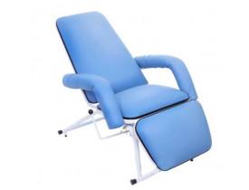 Poltrona Reclinável Hospitalar Descanso e Acompanhante Azul Claro Cap. 150Kg