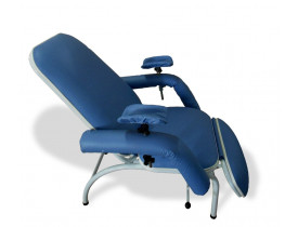 Poltrona Hospitalar Reclinável para Coleta de Sangue Standard-Azul Claro