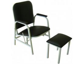 Cadeira Reclinável Hospitalar Com Apoio para os Pés