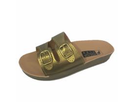 Sandália 2 Fivelas - Dourada - Doctor Flex